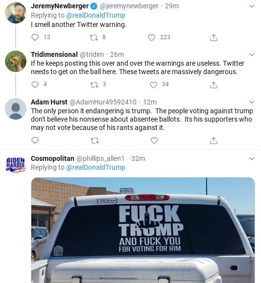 Screenshot-2020-09-12-at-4.44.50-PM Trump Rages Into 'Mail In Ballot Scam' Saturday Afternoon Meltdown Corruption Donald Trump Election 2020 Politics Social Media Top Stories