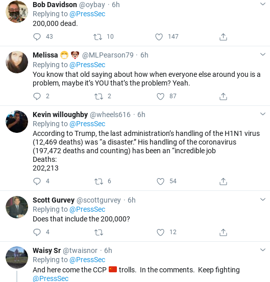 Screenshot-2020-09-18-at-1.47.22-PM Kayleigh McEnany Suffers Friday Humiliation After Failed Trump Defense Attempt Coronavirus Corruption Donald Trump Politics Social Media Top Stories