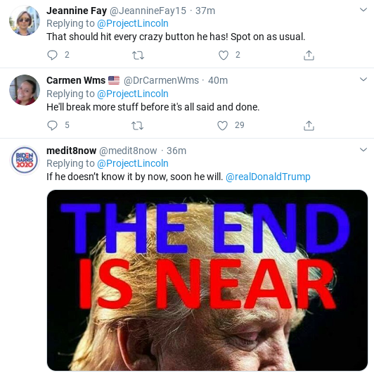 Screenshot-2020-09-26-at-4.42.51-PM 'The Lincoln Project' Smokes Trump With Viral Weekend Take-Down Donald Trump Election 2020 Politics Social Media Top Stories