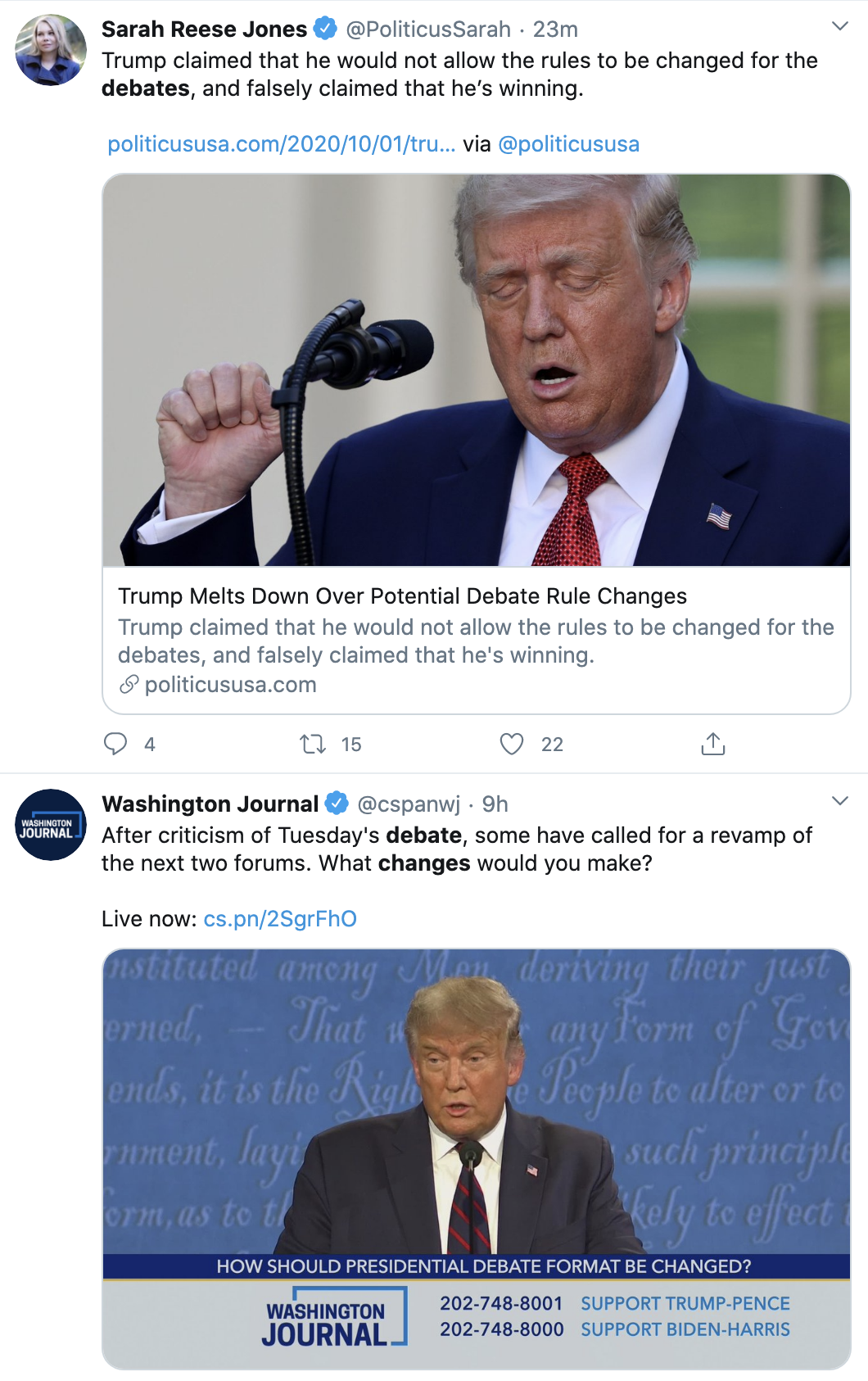 Screen-Shot-2020-10-01-at-3.18.13-PM Trump Has Thursday Afternoon Hissy-Fit Over Debate Failure Election 2020 Featured Politics Public Safety Top Stories