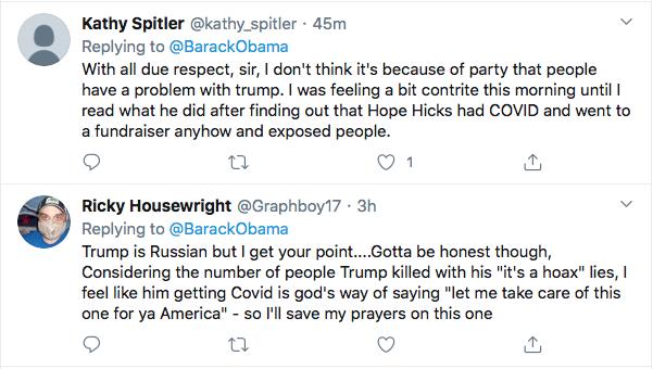 Screen-Shot-2020-10-03-at-9.52.32-AM Obama Tweets Weekend Leadershjip Message To America As Trump Flounders Coronavirus Election 2020 Featured Politics Top Stories Twitter