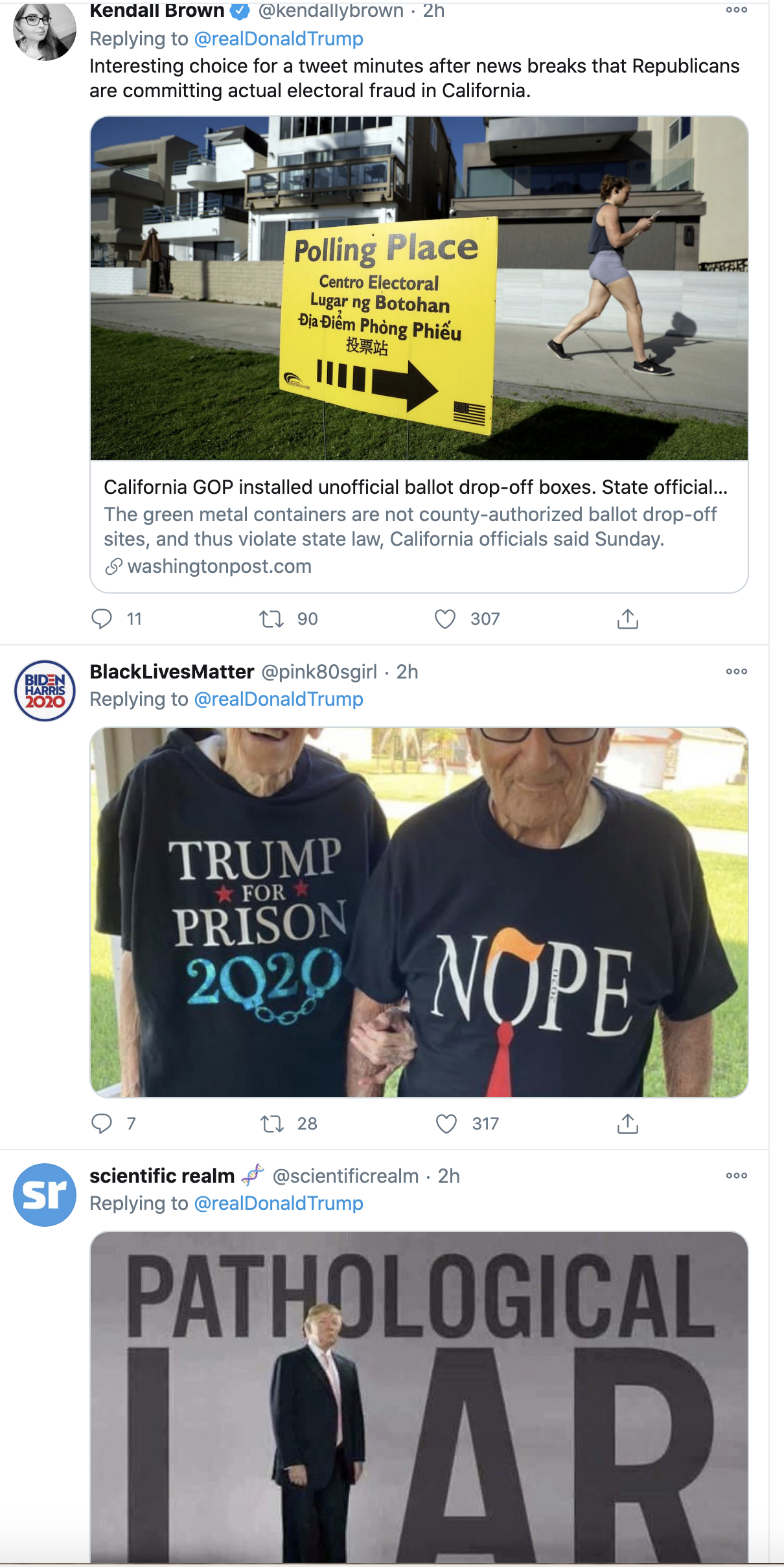 Screen-Shot-2020-10-12-at-10.05.14-AM Trump Live Tweets His Mental Collapse During SCOTUS Confirmation Hearing Crime Election 2020 Featured Politics Top Stories