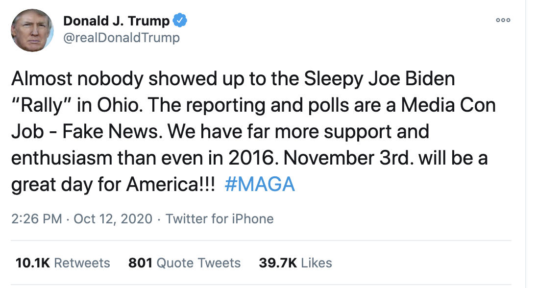Screen-Shot-2020-10-12-at-3.05.14-PM Trump Spazzes Into Deranged 12-Tweet Afternoon Meltdown After Seeing SCOTUS Hearing Election 2020 Featured Feminism Politics Top Stories