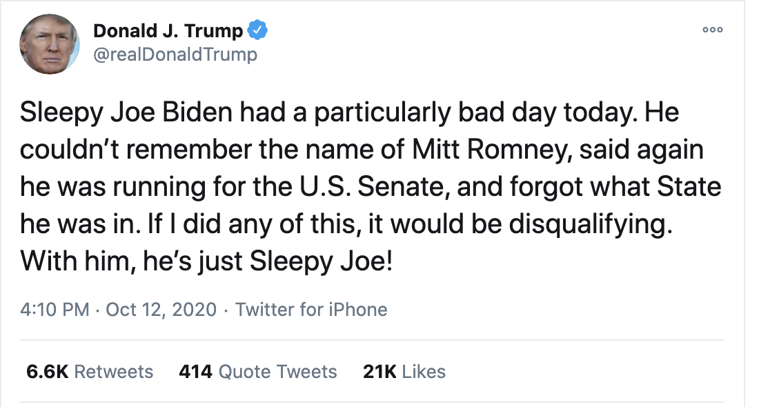 Screen-Shot-2020-10-12-at-4.23.36-PM Trump Spazzes Into Deranged 12-Tweet Afternoon Meltdown After Seeing SCOTUS Hearing Election 2020 Featured Feminism Politics Top Stories