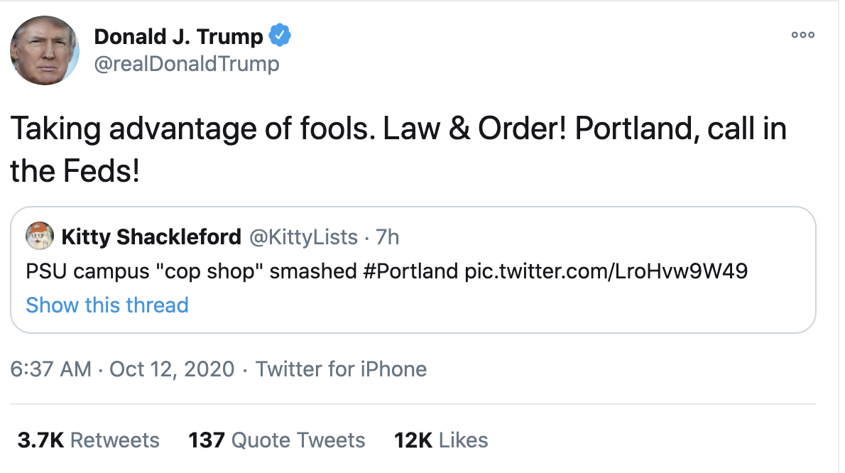 Screen-Shot-2020-10-12-at-7.17.23-AM Trump Fires Off 16-Tweet Morning Mega-Rant Like A Desperate Old Man Crime Election 2020 Featured Politics Top Stories