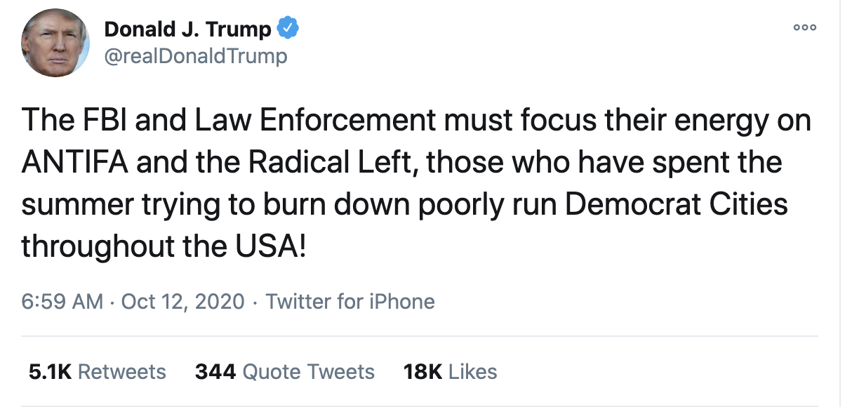Screen-Shot-2020-10-12-at-7.19.13-AM Trump Fires Off 16-Tweet Morning Mega-Rant Like A Desperate Old Man Crime Election 2020 Featured Politics Top Stories