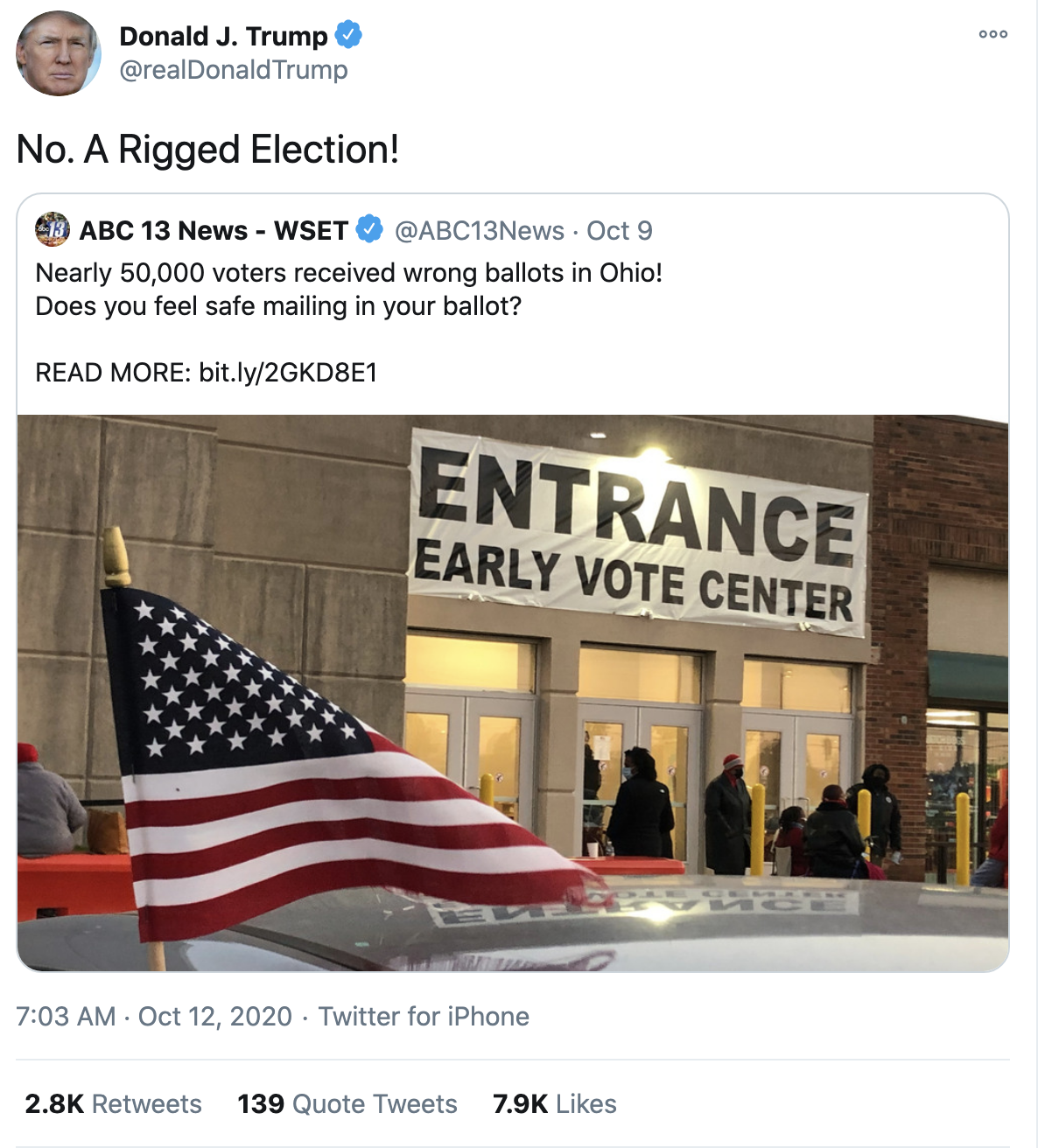 Screen-Shot-2020-10-12-at-7.19.48-AM Trump Fires Off 16-Tweet Morning Mega-Rant Like A Desperate Old Man Crime Election 2020 Featured Politics Top Stories