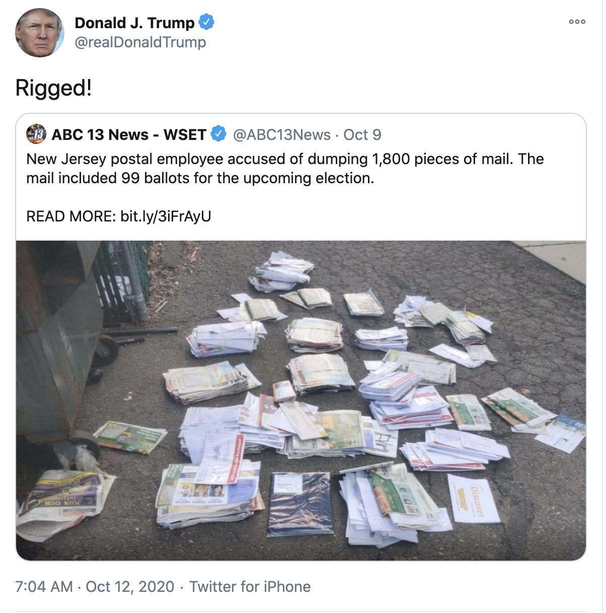 Screen-Shot-2020-10-12-at-7.20.32-AM Trump Fires Off 16-Tweet Morning Mega-Rant Like A Desperate Old Man Crime Election 2020 Featured Politics Top Stories