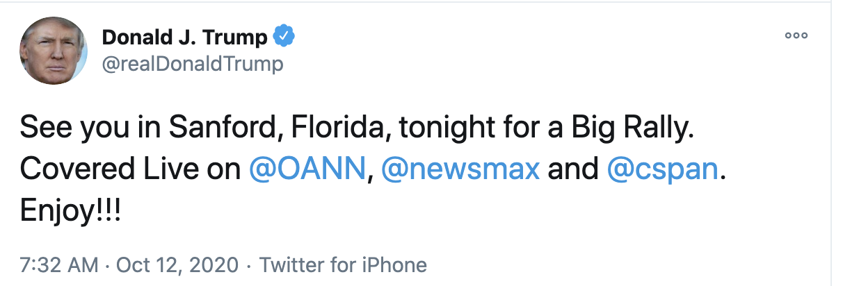 Screen-Shot-2020-10-12-at-7.37.05-AM Trump Fires Off 16-Tweet Morning Mega-Rant Like A Desperate Old Man Crime Election 2020 Featured Politics Top Stories