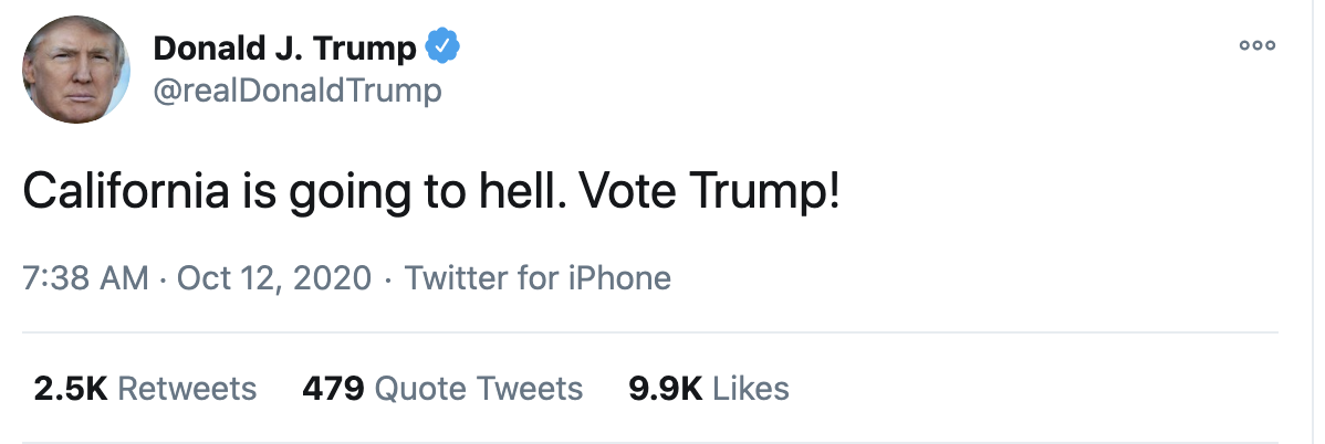 Screen-Shot-2020-10-12-at-7.42.21-AM Trump Fires Off 16-Tweet Morning Mega-Rant Like A Desperate Old Man Crime Election 2020 Featured Politics Top Stories