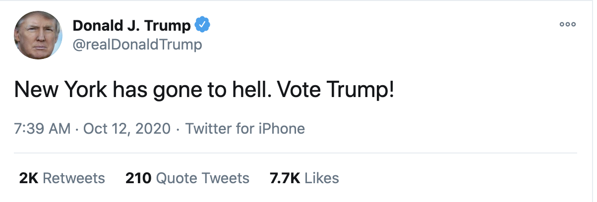 Screen-Shot-2020-10-12-at-7.43.06-AM Trump Fires Off 16-Tweet Morning Mega-Rant Like A Desperate Old Man Crime Election 2020 Featured Politics Top Stories
