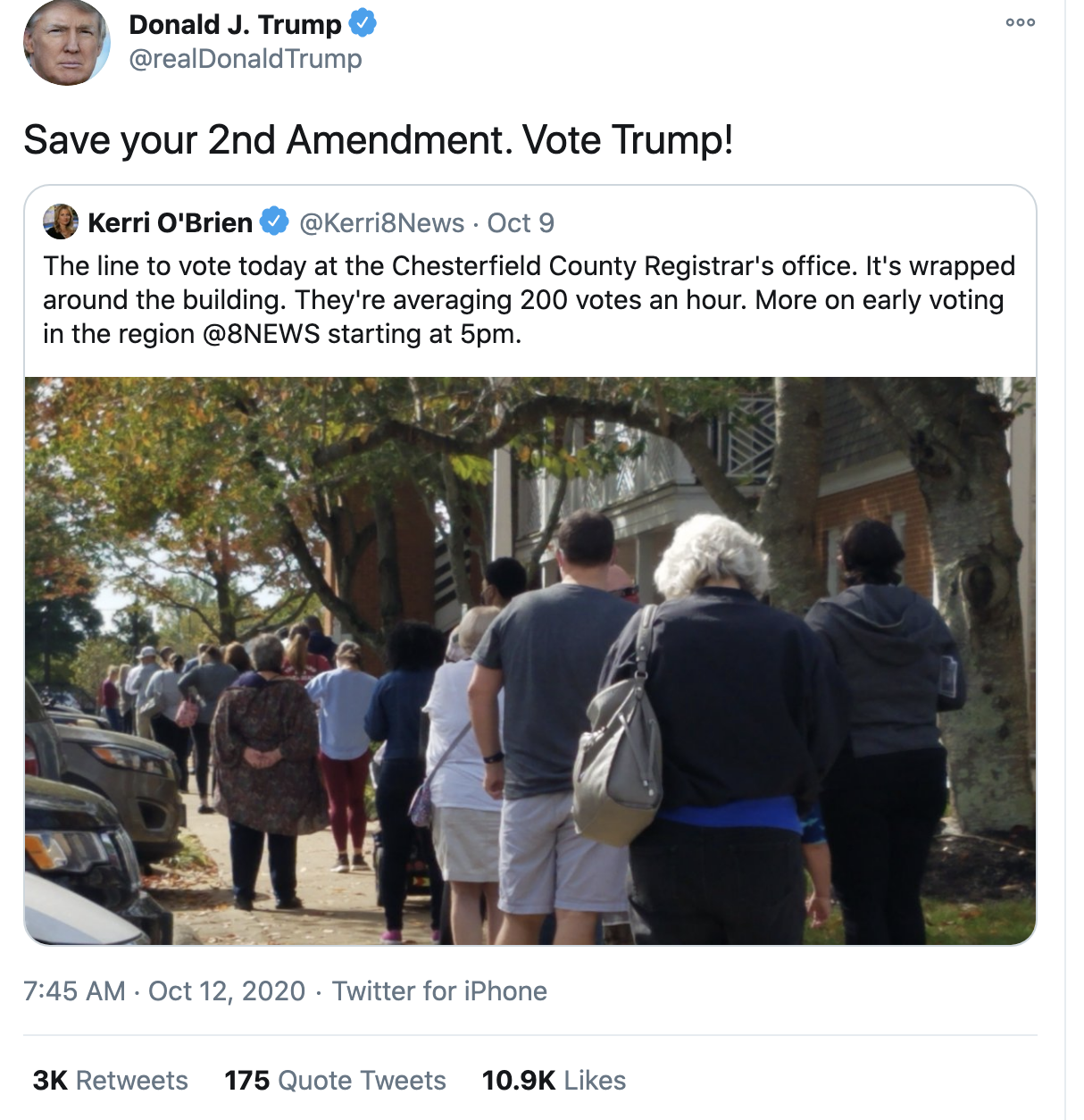 Screen-Shot-2020-10-12-at-8.03.07-AM Trump Fires Off 16-Tweet Morning Mega-Rant Like A Desperate Old Man Crime Election 2020 Featured Politics Top Stories