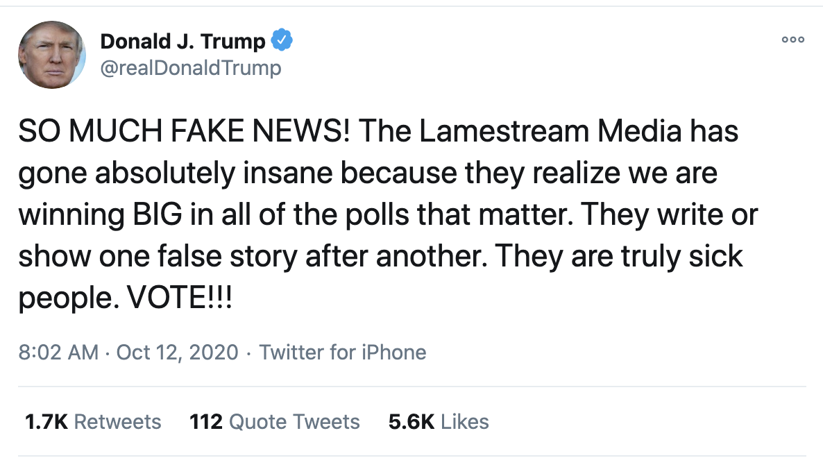 Screen-Shot-2020-10-12-at-8.05.35-AM Trump Fires Off 16-Tweet Morning Mega-Rant Like A Desperate Old Man Crime Election 2020 Featured Politics Top Stories