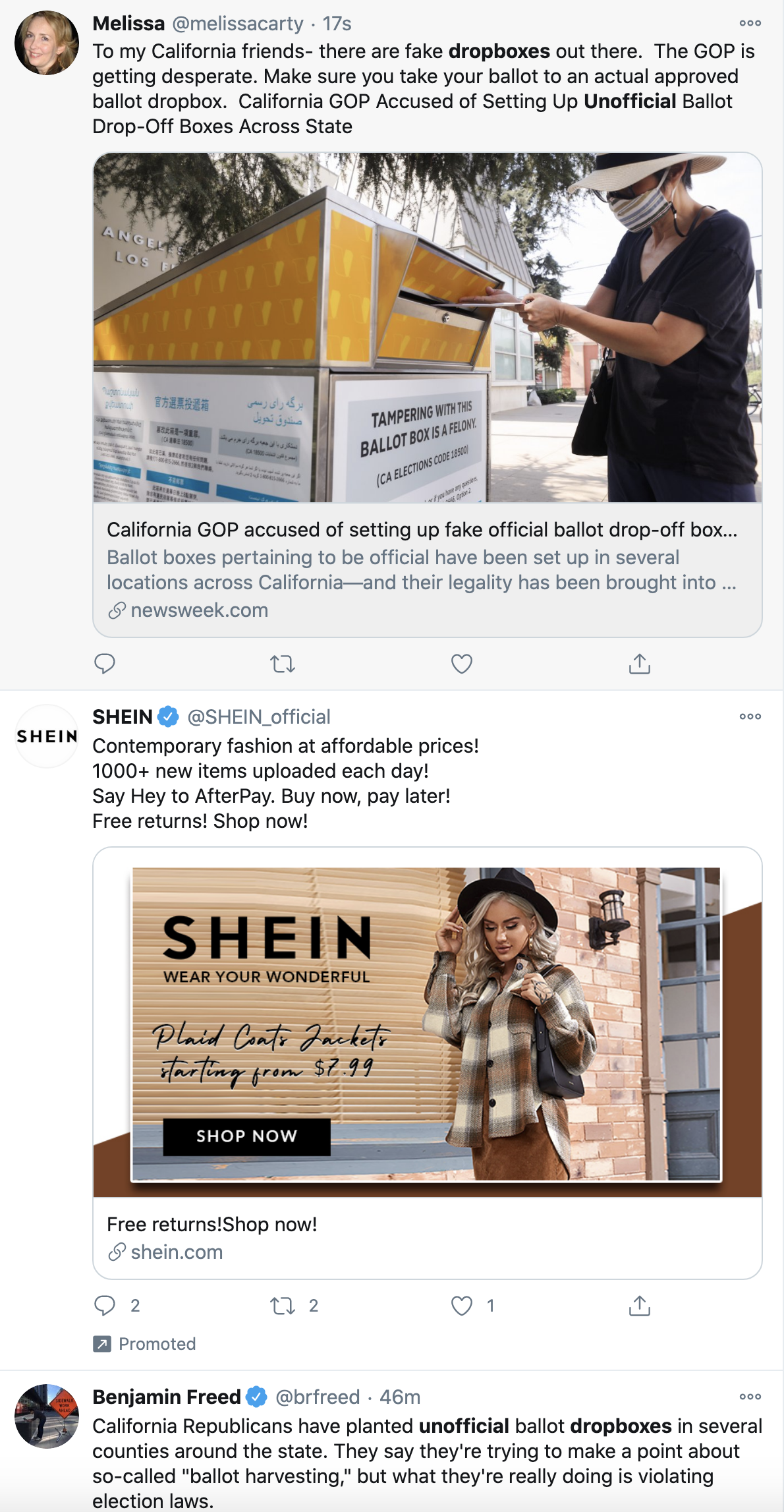 Screen-Shot-2020-10-12-at-9.42.05-AM GOP Caught Using Unofficial Ballot Drop-Off Boxes To Trick Voters Corruption Election 2020 Featured Politics Top Stories