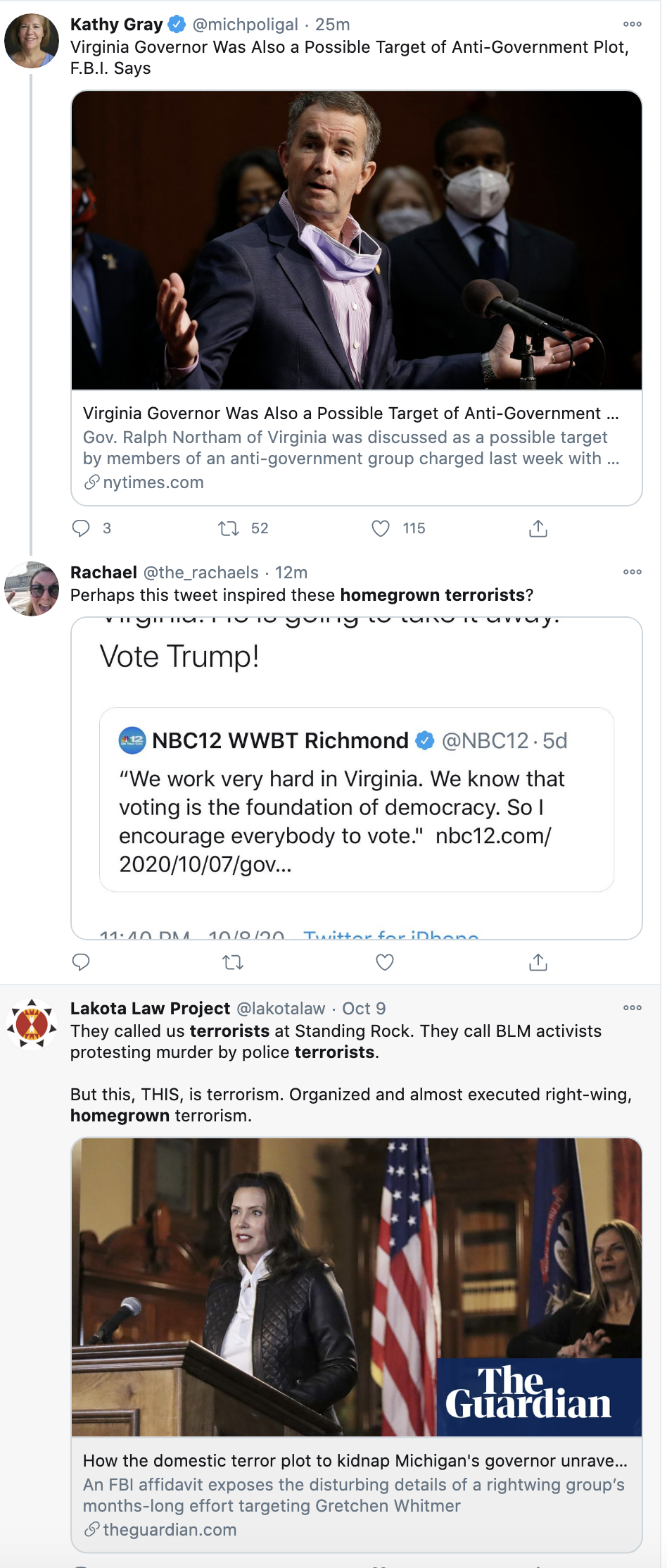 Screen-Shot-2020-10-13-at-11.57.12-AM FBI Reveals 2nd Plot To Kidnap, Try, & Hang Virginia Governor Alt-Right Featured Politics Terrorism Top Stories