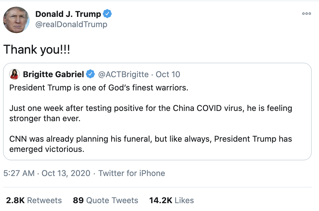 Screen-Shot-2020-10-13-at-7.19.48-AM Trump Fires Off 15-Tweet Morning Mega Rant Like A Delirious Old Man Election 2020 Featured Mental Illness Politics Top Stories
