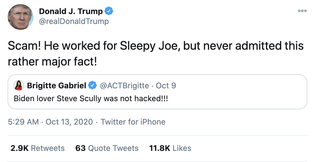 Screen-Shot-2020-10-13-at-7.20.59-AM Trump Fires Off 15-Tweet Morning Mega Rant Like A Delirious Old Man Election 2020 Featured Mental Illness Politics Top Stories