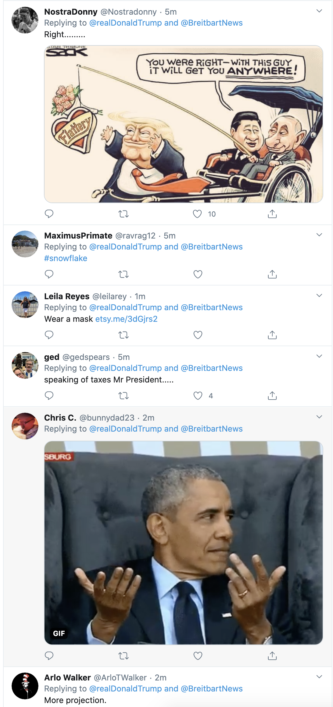 Screen-Shot-2020-10-21-at-7.13.10-AM Trump Snaps & Rage-Tweet Attacks Biden Like A Scared Old Man Election 2020 Featured Politics Top Stories