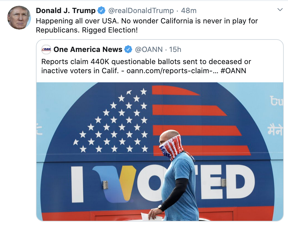 Screen-Shot-2020-10-21-at-8.11.49-AM Trump Snaps & Rage-Tweet Attacks Biden Like A Scared Old Man Election 2020 Featured Politics Top Stories