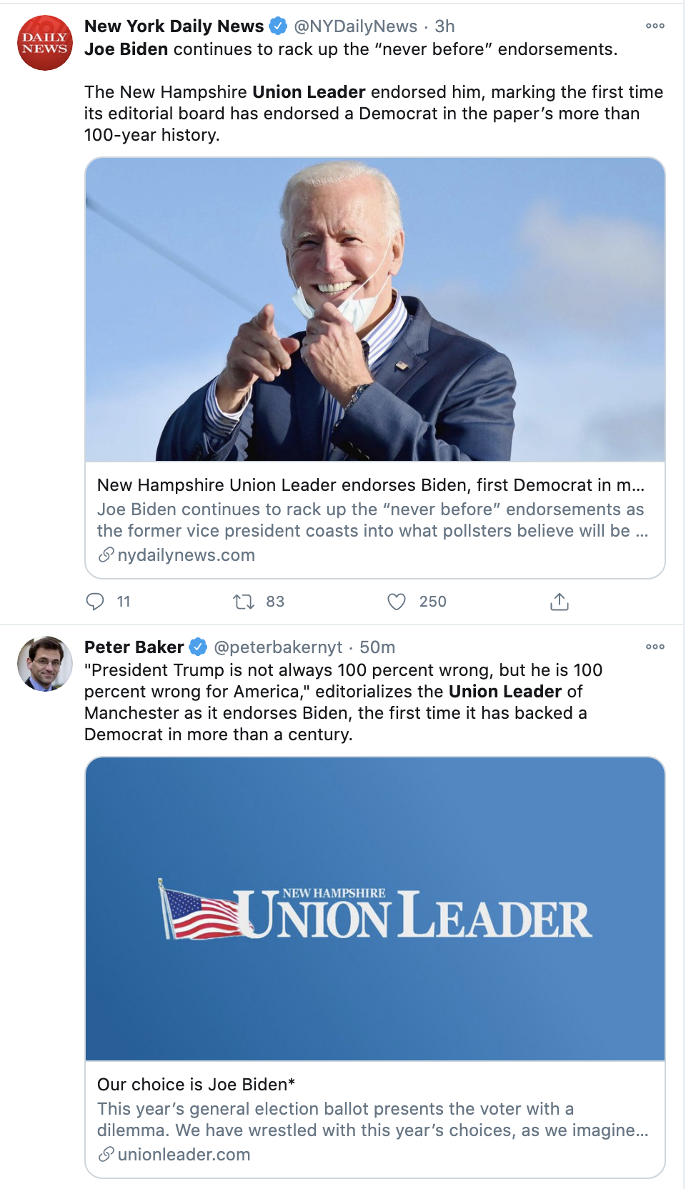 Screen-Shot-2020-10-25-at-2.09.18-PM Newspaper Endorses 1st Democrat In 100 Years With Trump Snub Corruption Election 2020 Featured Politics Top Stories