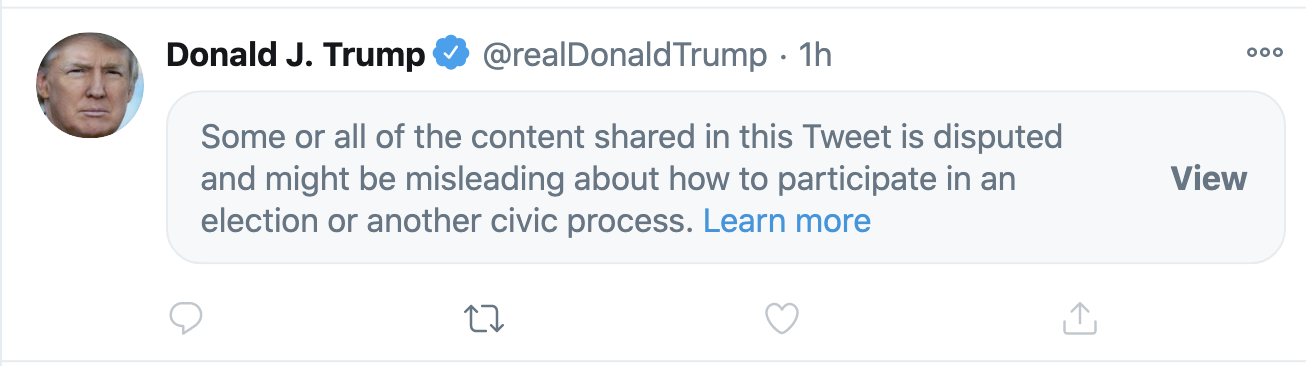Screen-Shot-2020-10-26-at-7.59.56-PM Twitter Hits Trump Where It Hurts The Most In The Tweet , Karma Fairies Are Dancing Corruption Featured Politics Social Media Top Stories
