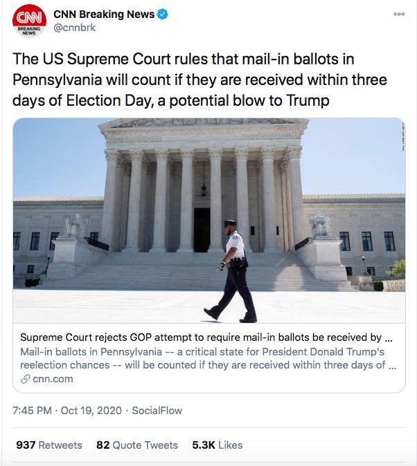 Screen-Shot-2020-10-26-at-9.56.59-PM Twitter Penalizes Trump's Account After Latest Election Lies Donald Trump Election 2020 Featured Politics Top Stories
