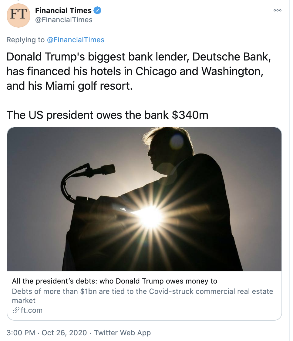 Screen-Shot-2020-10-28-at-11.45.03-AM Trump Owes Over $1,000,000,000 To Offshore Banks, Mysterious Others Uncategorized