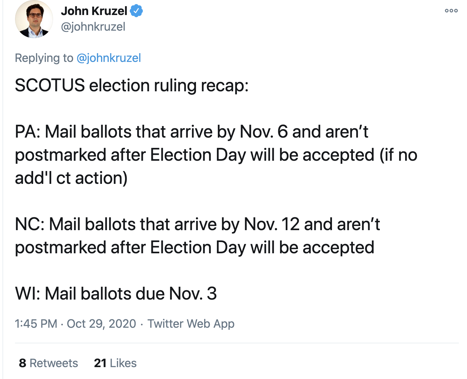 Screen-Shot-2020-10-29-at-1.57.20-PM Supreme Court Betrays Trump Again With Thursday  Mail Ballot Extension Featured Politics Top Stories