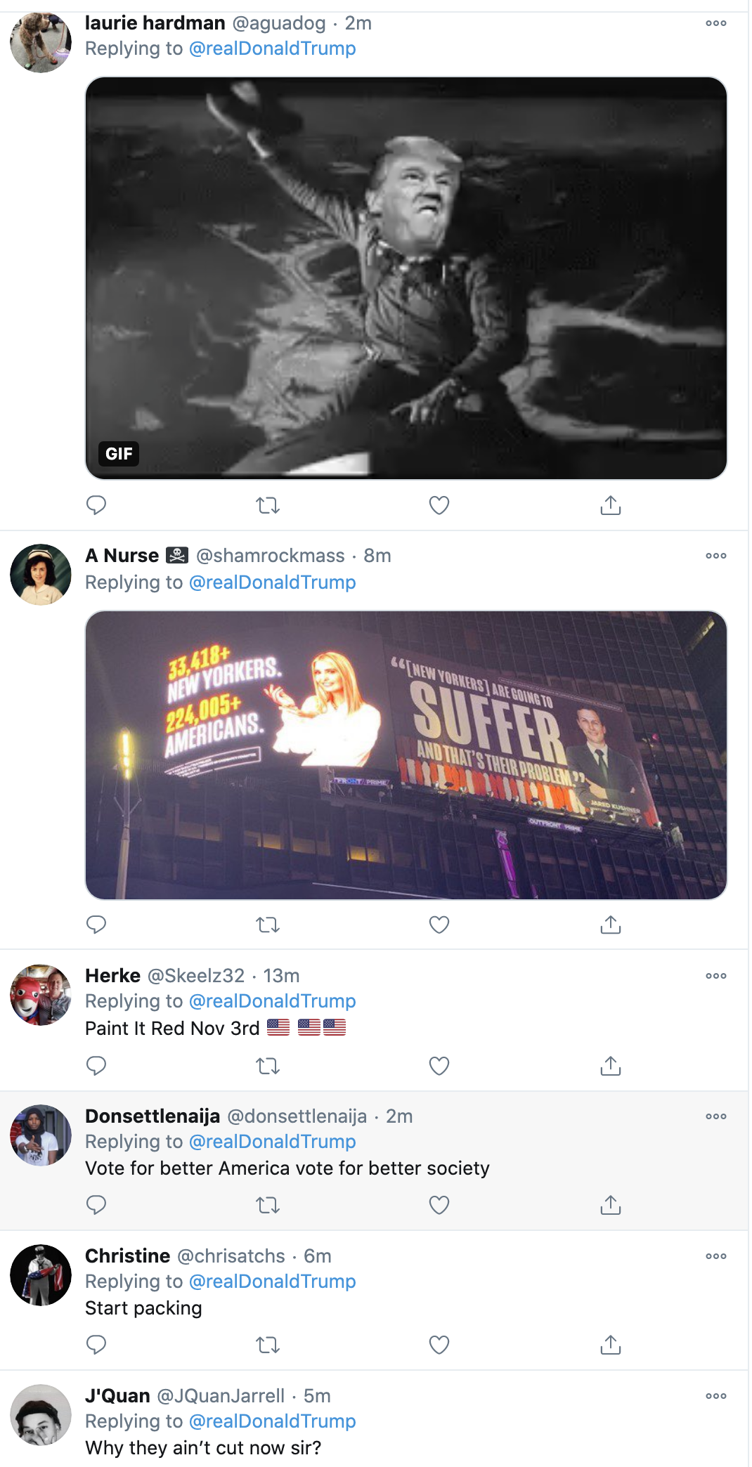 Screen-Shot-2020-10-29-at-8.03.19-AM Trump Tweets Morning Video Of Threats Like A Maniac Dictator Coronavirus Corruption Election 2020 Featured Top Stories