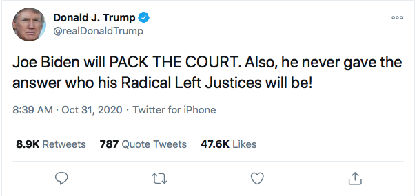Screen-Shot-2020-10-31-at-10.02.31-AM Trump Launches Deranged Morning Tweet Attack On Obama's Blackness & NY Times Donald Trump Election 2020 Featured Politics Top Stories Twitter