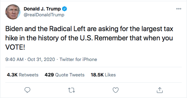 Screen-Shot-2020-10-31-at-10.02.56-AM Trump Launches Deranged Morning Tweet Attack On Obama's Blackness & NY Times Donald Trump Election 2020 Featured Politics Top Stories Twitter