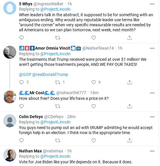 Screenshot-2020-10-17-at-4.35.49-PM 'The Lincoln Project' Strikes Again With Viral Trump Take-Down Coronavirus Donald Trump Election 2020 Politics Social Media Top Stories