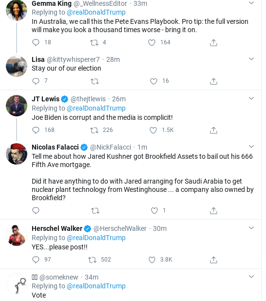 Screenshot-2020-10-20-at-6.45.01-PM Trump Has Deranged Twitter Meltdown After Storming Out Of  CBS Interview Donald Trump Election 2020 Media Politics Social Media Top Stories