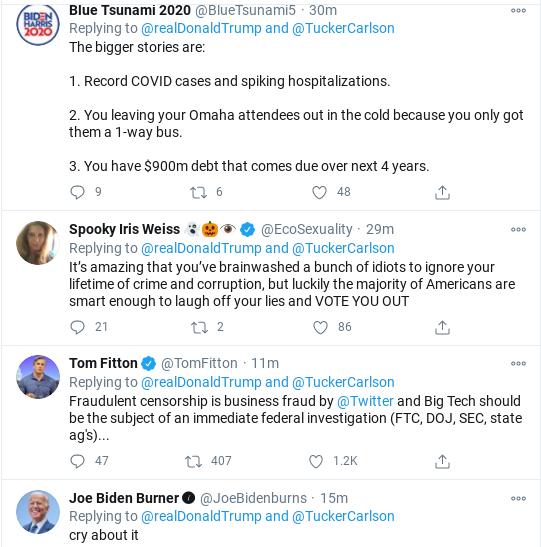 Screenshot-2020-10-28-at-11.56.09-AM Trump Sees Facebook/Twitter Hearing & Erupts Into Delirious Rage Corruption Donald Trump Election 2020 Politics Social Media Top Stories