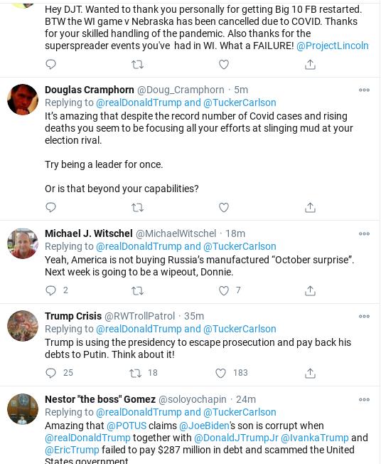 Screenshot-2020-10-28-at-11.58.48-AM Trump Sees Facebook/Twitter Hearing & Erupts Into Delirious Rage Corruption Donald Trump Election 2020 Politics Social Media Top Stories