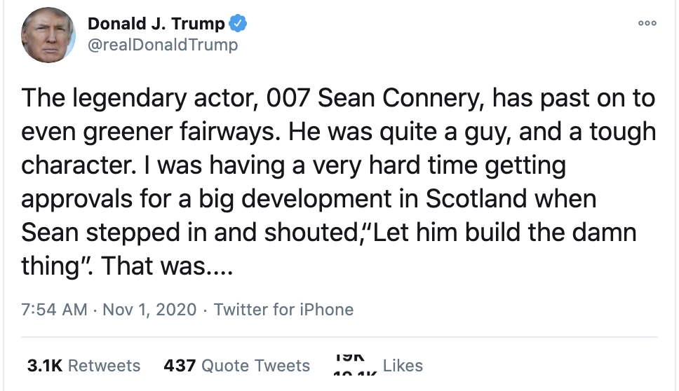 Screen-Shot-2020-11-01-at-8.08.31-AM Trump Fully Snaps During 8-Tweet Sunday Morning Emotional Collapse Coronavirus Election 2020 Featured Top Stories