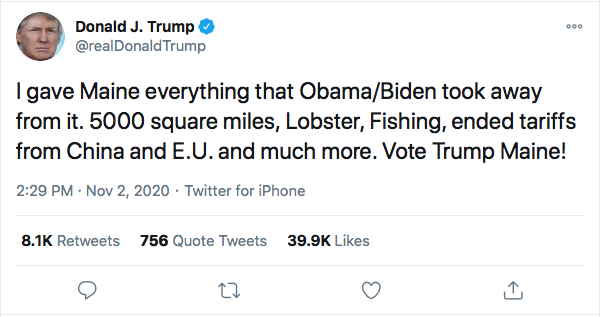 Screen-Shot-2020-11-02-at-3.25.21-PM Trump Launches 13-Tweet Election Eve Mega-Rant Like A Maniac Donald Trump Election 2020 Featured Politics Top Stories Twitter