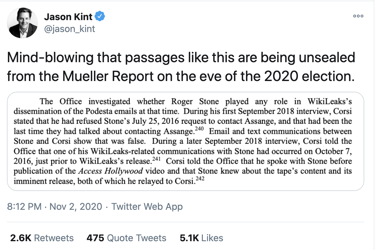 Screen-Shot-2020-11-03-at-10.19.24-AM Damning Pages Of Mueller Report Released In Pre-Election Surprise Featured Politics Robert Mueller Russia Top Stories