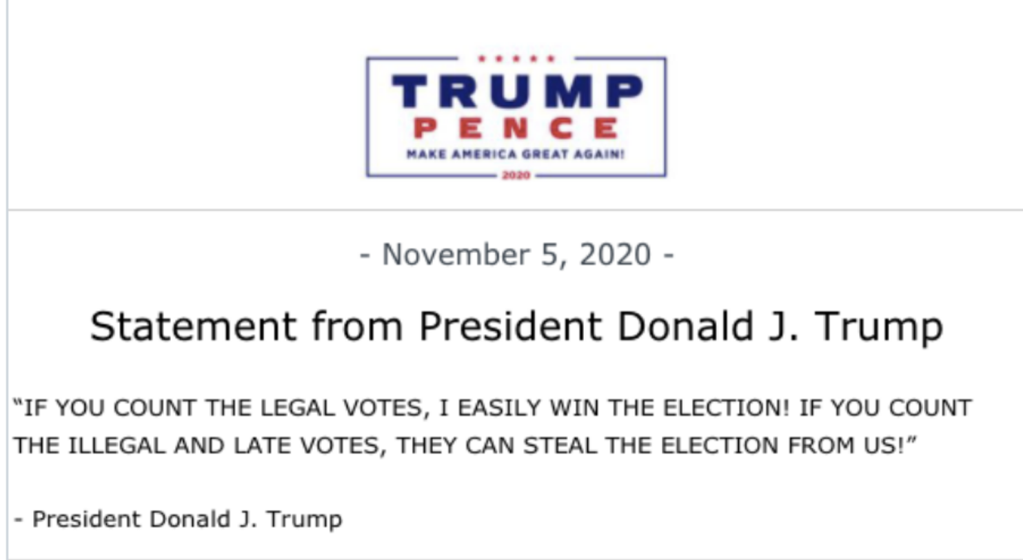Screen-Shot-2020-11-05-at-12.21.29-PM Trump Sees Afternoon Vote Update & Panics Like A Future Felon Election 2020 Featured Mental Illness Politics Top Stories