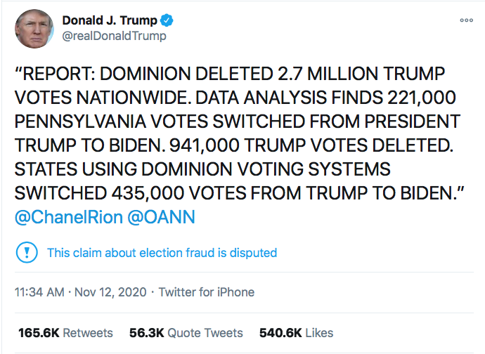 Screen-Shot-2020-11-12-at-10.11.43-PM Trump Vote Fraud Conspiracy Debunked By Homeland Security Dept Conspiracy Theory Donald Trump Election 2020 Featured Politics Top Stories