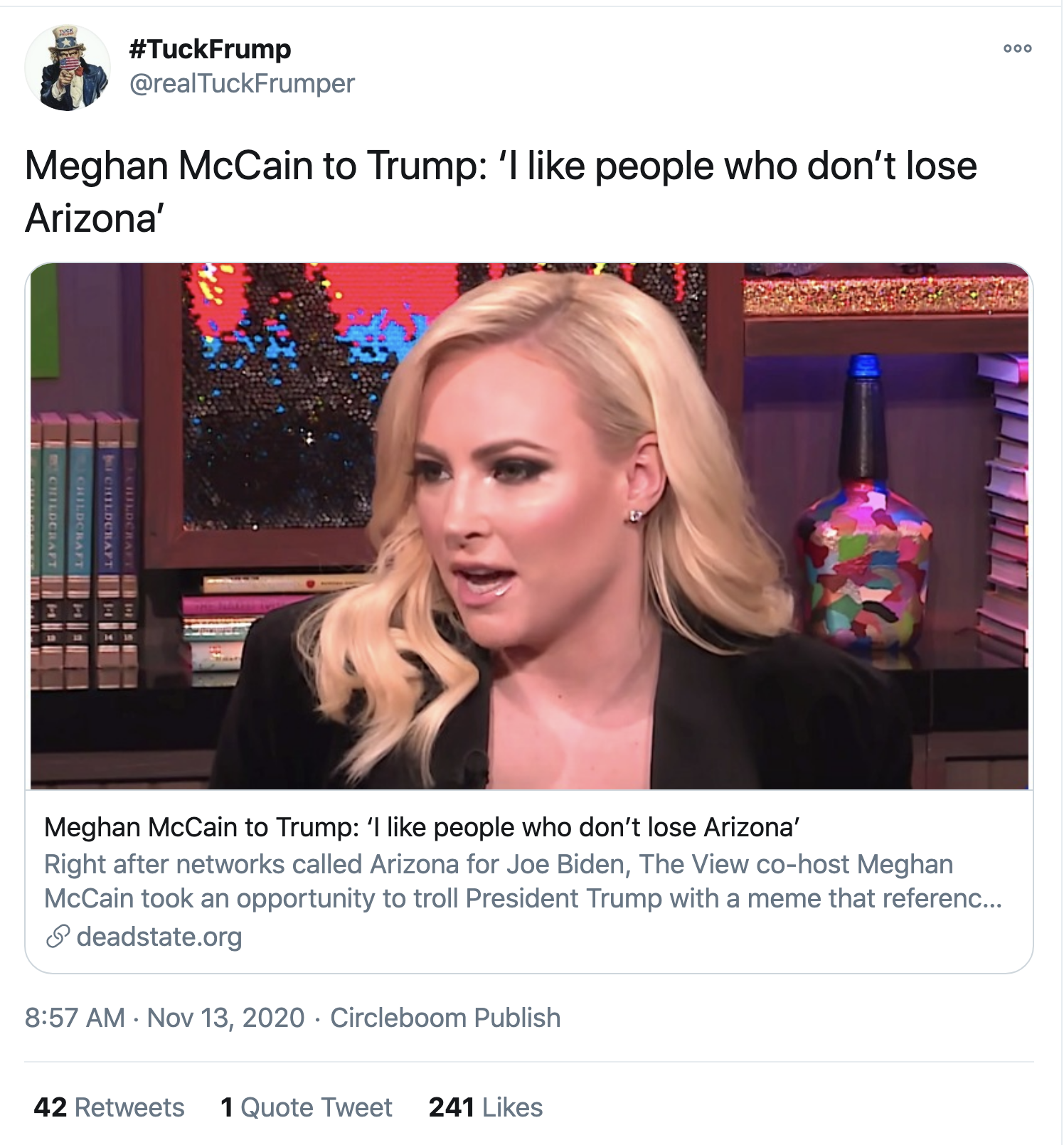 Screen-Shot-2020-11-13-at-9.22.38-AM Meghan McCain Publicly Shames Trump After Arizona Falls Featured Military National Security Politics Top Stories