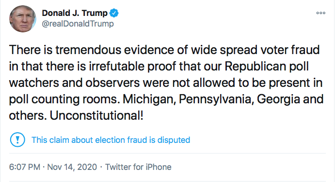 Screen-Shot-2020-11-14-at-6.19.53-PM Trump Has Saturday Night Meltdown Like A Lunatic On Drugs Donald Trump Election 2020 Featured Politics Top Stories Twitter