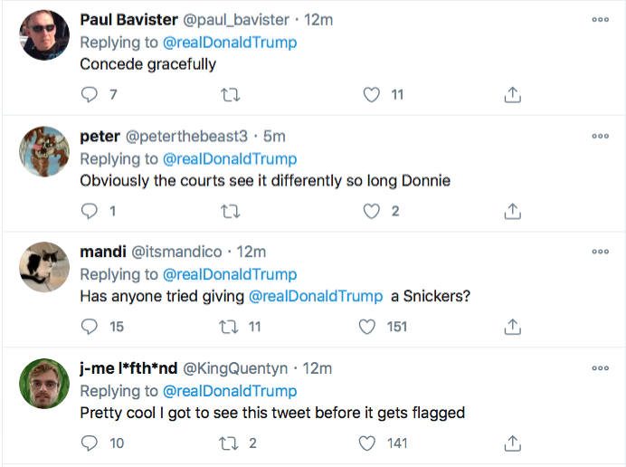 Screen-Shot-2020-11-14-at-6.21.27-PM Trump Has Saturday Night Meltdown Like A Lunatic On Drugs Donald Trump Election 2020 Featured Politics Top Stories Twitter