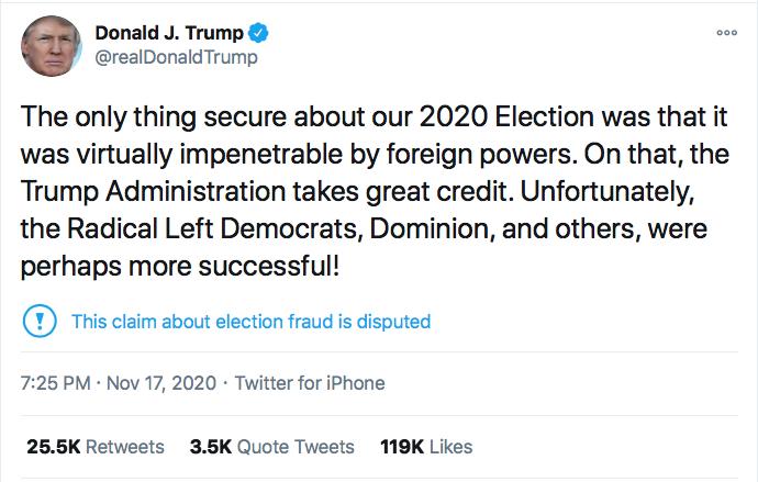 Screen-Shot-2020-11-17-at-9.07.00-PM Chris Krebs Rebuffs Trump's Firing Like A U.S. Patriot Conspiracy Theory Donald Trump Election 2020 Featured Politics Top Stories Twitter