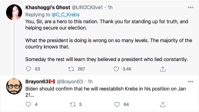 Screen-Shot-2020-11-17-at-9.09.07-PM Chris Krebs Rebuffs Trump's Firing Like A U.S. Patriot Conspiracy Theory Donald Trump Election 2020 Featured Politics Top Stories Twitter