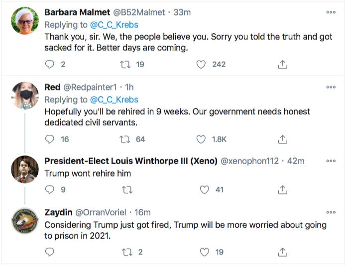 Screen-Shot-2020-11-17-at-9.09.33-PM Chris Krebs Rebuffs Trump's Firing Like A U.S. Patriot Conspiracy Theory Donald Trump Election 2020 Featured Politics Top Stories Twitter