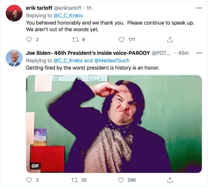 Screen-Shot-2020-11-17-at-9.10.06-PM Chris Krebs Rebuffs Trump's Firing Like A U.S. Patriot Conspiracy Theory Donald Trump Election 2020 Featured Politics Top Stories Twitter