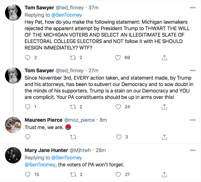 Screen-Shot-2020-11-21-at-10.13.41-PM Top GOP Senator Publicly Abandons Trump After PA Court Loss Conspiracy Theory Donald Trump Election 2020 Featured Politics Top Stories Twitter