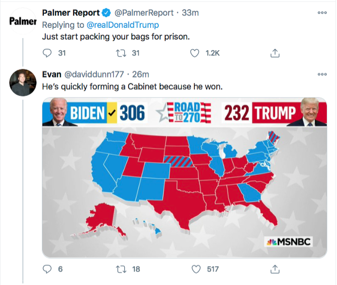 Screen-Shot-2020-11-21-at-8.53.07-PM Trump Spazzes Into Saturday Night Conniption Fit After Seeing Court Loss Conspiracy Theory Donald Trump Election 2020 Featured Politics Top Stories Twitter