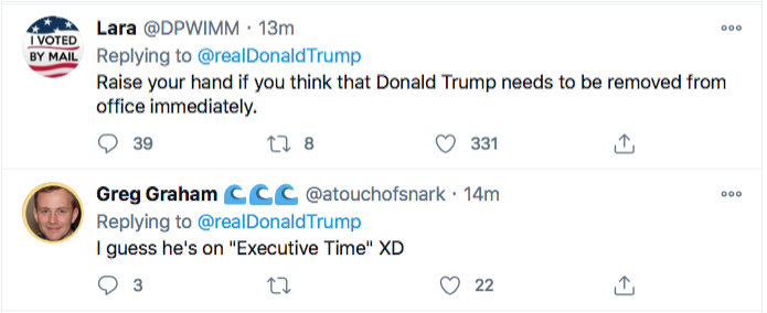 Screen-Shot-2020-11-21-at-8.55.47-PM Trump Spazzes Into Saturday Night Conniption Fit After Seeing Court Loss Conspiracy Theory Donald Trump Election 2020 Featured Politics Top Stories Twitter